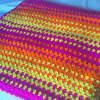 Color-Burst Granny Stripes Blanket
