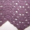 Fans and Pansies Ripple Afghan