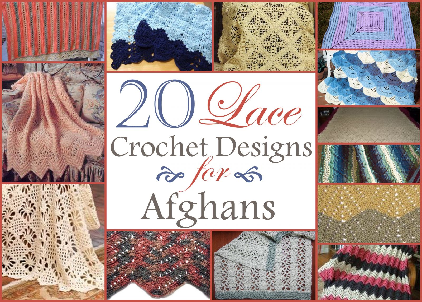 Bedspread designs texture - 20 Lace Crochet Designs For Afghans