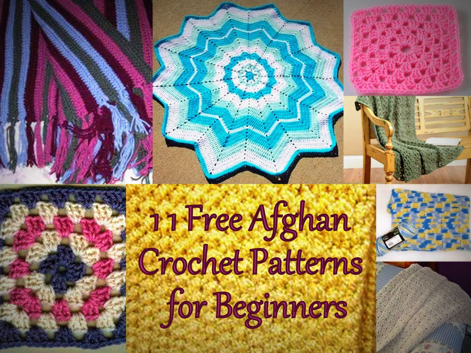 Easy Crochet Afghan Patterns For Beginners Free : Basic Broomstick Lace Afghan ...
