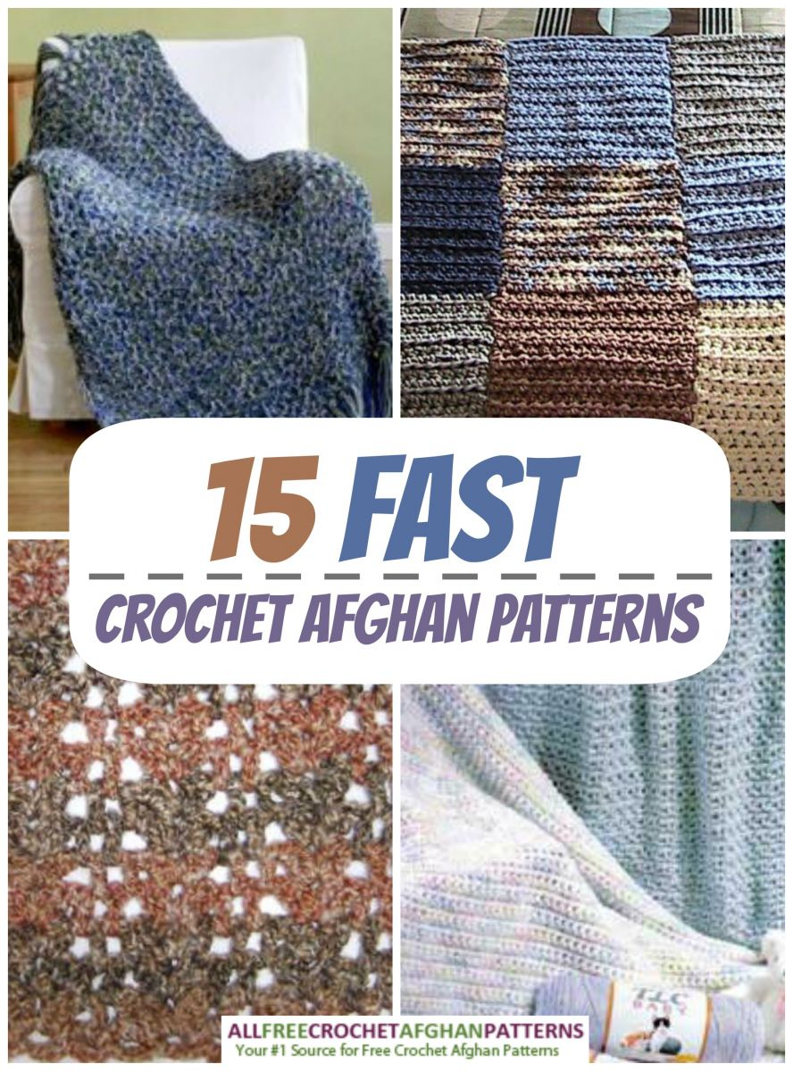 15 Fast Crochet Afghan Patterns