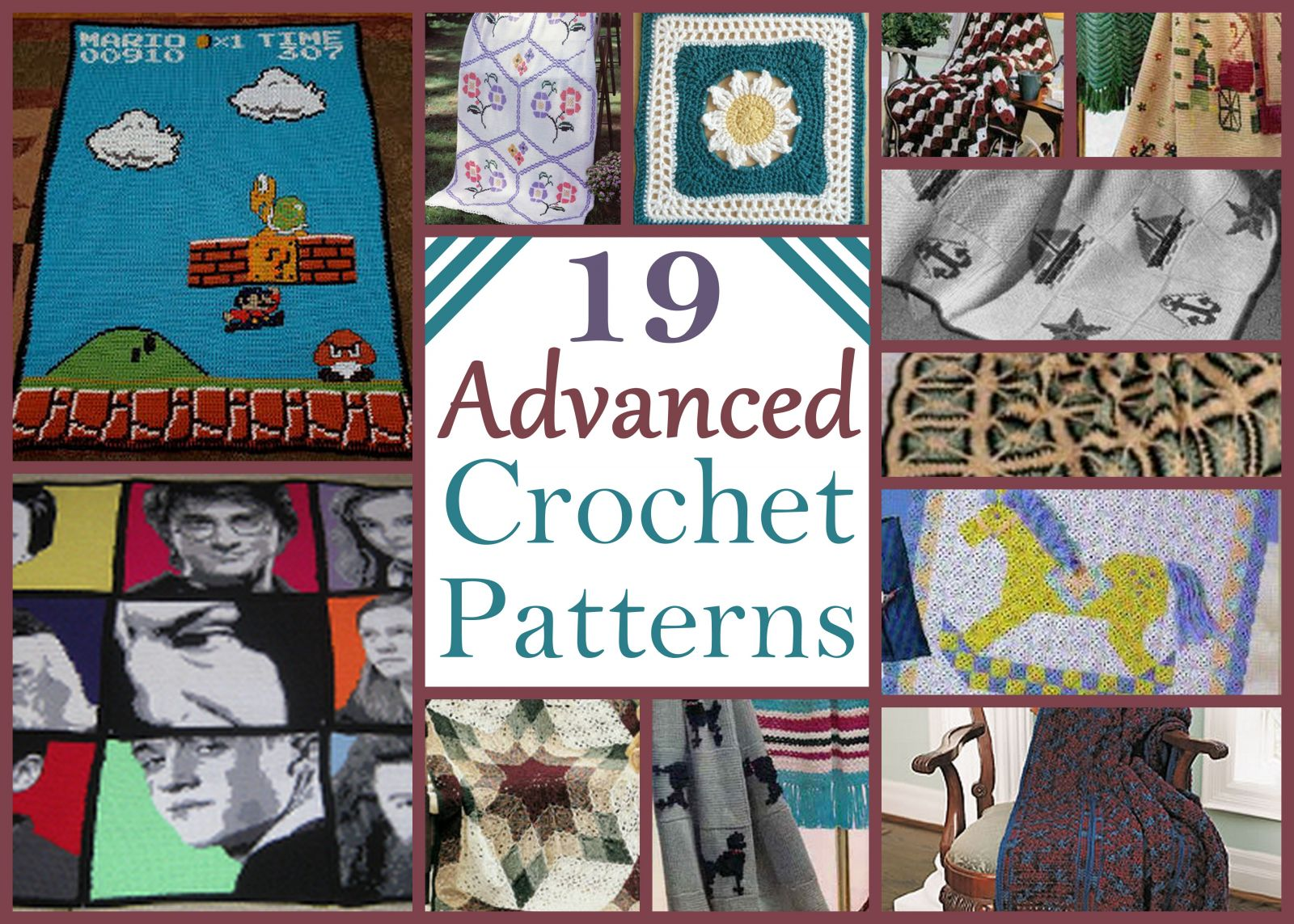 19 Advanced Crochet Patterns AllFreeCrochetAfghanPatterns.com