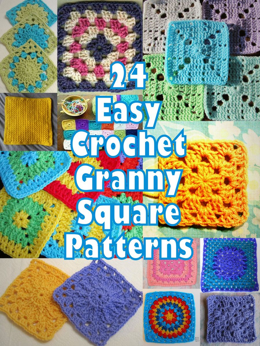 Crochet Easy Granny Square Patterns : Beginner Crochet Free How To Instructions Designs 2016 ...