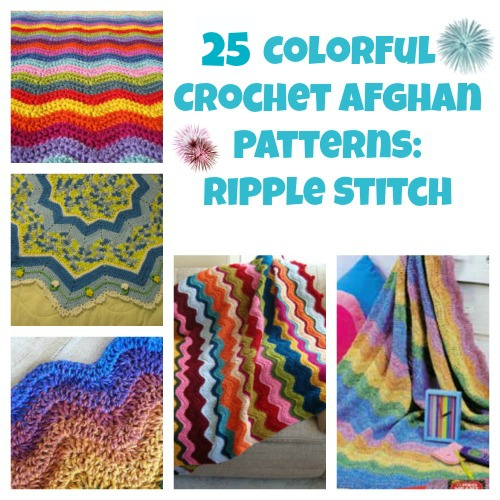 21 Colorful Crochet Afghan Patterns: Ripple Stitch