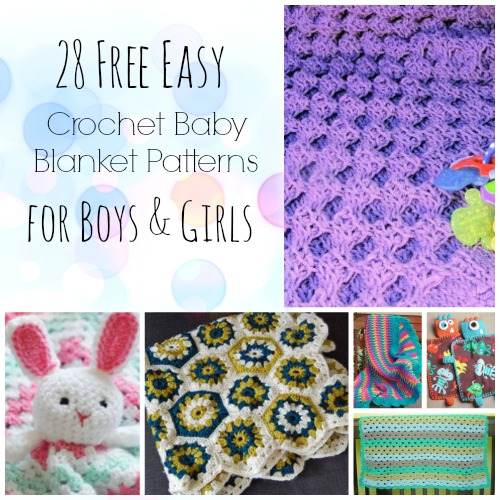 28 Free Easy Crochet Baby Blanket Patterns for Boys & Girls