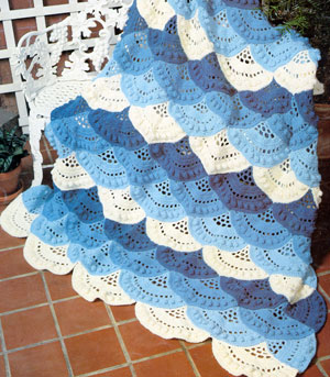 All Free Crochet Afghan Patterns : Lacy Shell Afghan AllFreeCrochetAfghanPatterns.com