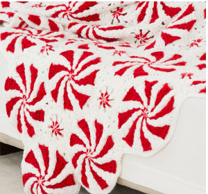 Peppermint Bliss Throw and Pillow Peppermint Candy Crochet Blanket Pattern