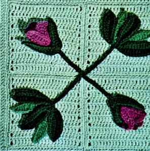 Crochet Pattern For Tulip Afghan : Pink Tulip Garden Crochet Afghan ...