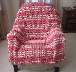 Raspberry Swirls Crochet Throw ...