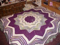 Crochet pattern for butterfly bedspread. Free Patterns.