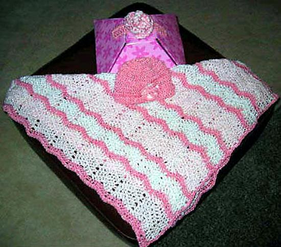 Double Crochet Ripple Baby Afghan Pattern : BABY RIPPLE AFGHAN CROCHET PATTERN FREE PATTERNS