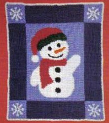 free crochet snowman table runner pattern