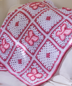 All Free Crochet Afghan Patterns : Crochet Butterfly Blanket AllFreeCrochetAfghanPatterns.com