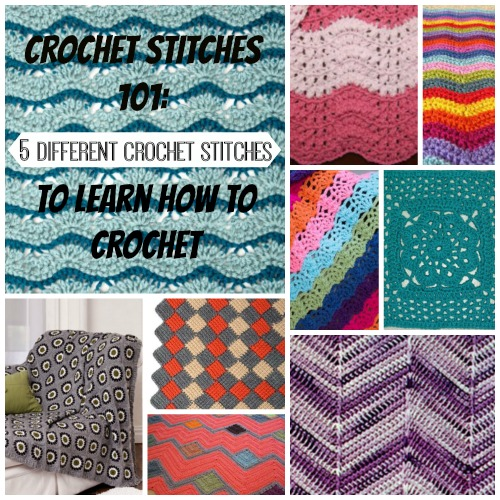 Crochet Stitches How To Videos : Crochet Stitches 101: 5 Different Crochet Stitches to Learn How to ...