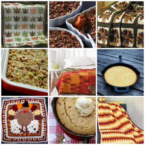 Eat and Crochet: 15 Thanksgiving Crochet Patterns + Casserole Recipes