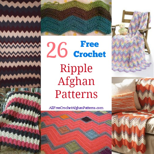 Crochet Stitches Ripple Afghan : crochet ripple afghan patterns table of contents free crochet ripple ...