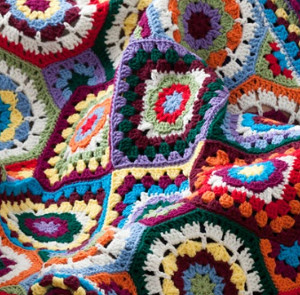 Geometric Crochet Afghan Pattern : Geometric Color Lovers Throw ...