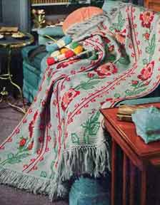 All American Crochet Afghan Pattern Free : American Rose Afghan AllFreeCrochetAfghanPatterns.com