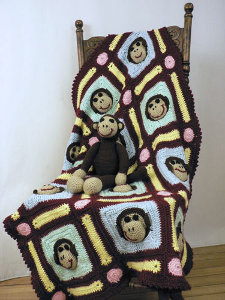 Crocheted Monkey Blanket Need a Baby Present? Give the Gift of Crochet!