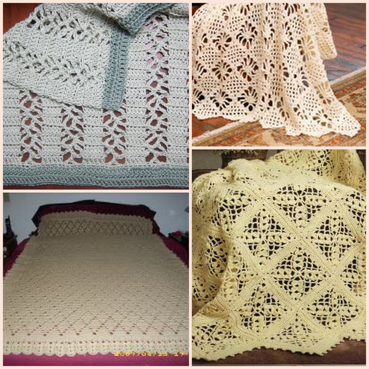 20 Lace Crochet Designs for Afghans AllFreeCrochetAfghanPatterns.com
