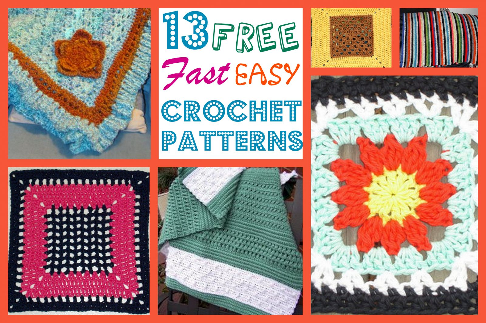 Free Afghan Patterns Crochet Quick Easy : 13 Free, Fast, Easy Crochet Patterns ...