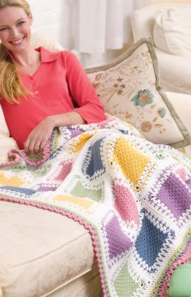 Butter Mints Tunisian Crochet Blanket ...