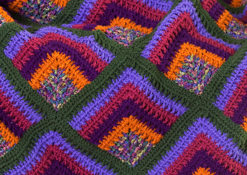 Free Knitting Pattern Mitered Afghan : Rich Mitered Crochet Throw AllFreeCrochetAfghanPatterns.com