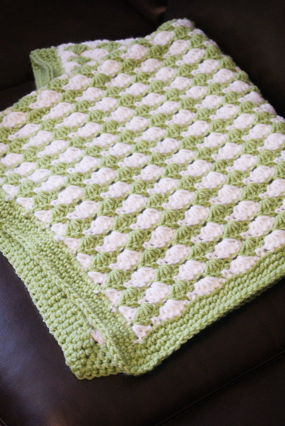 crochet shell stitch baby blanket pattern