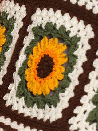 Crochet Sunflower Afghan AllFreeCrochetAfghanPatterns.com