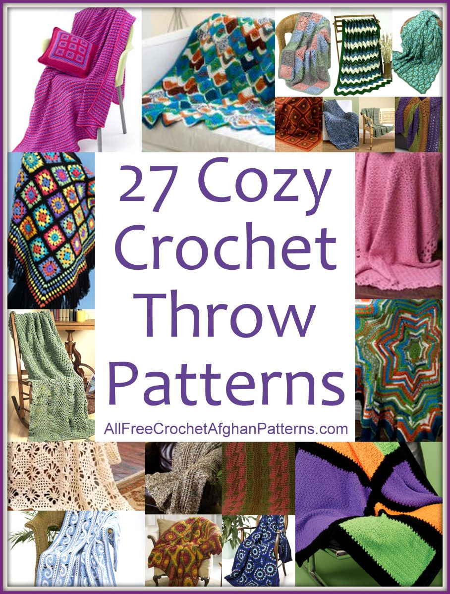 27 Cozy Crochet Throw Patterns