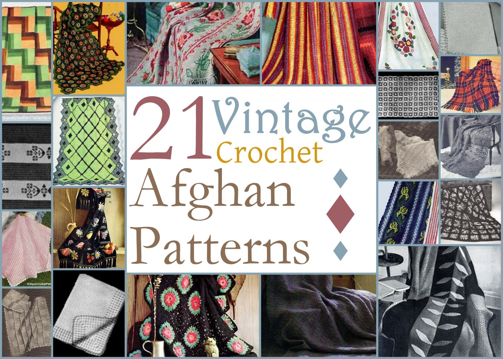 All Free Crochet Afghan Patterns : 30 Vintage Crochet Afghan Patterns ...